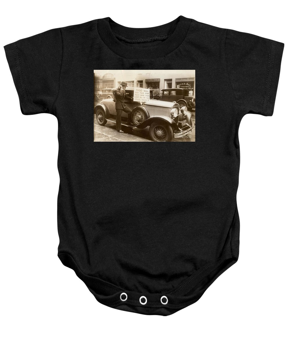 1929 Baby Onesie featuring the photograph Wall Street Crash, 1929 by Granger