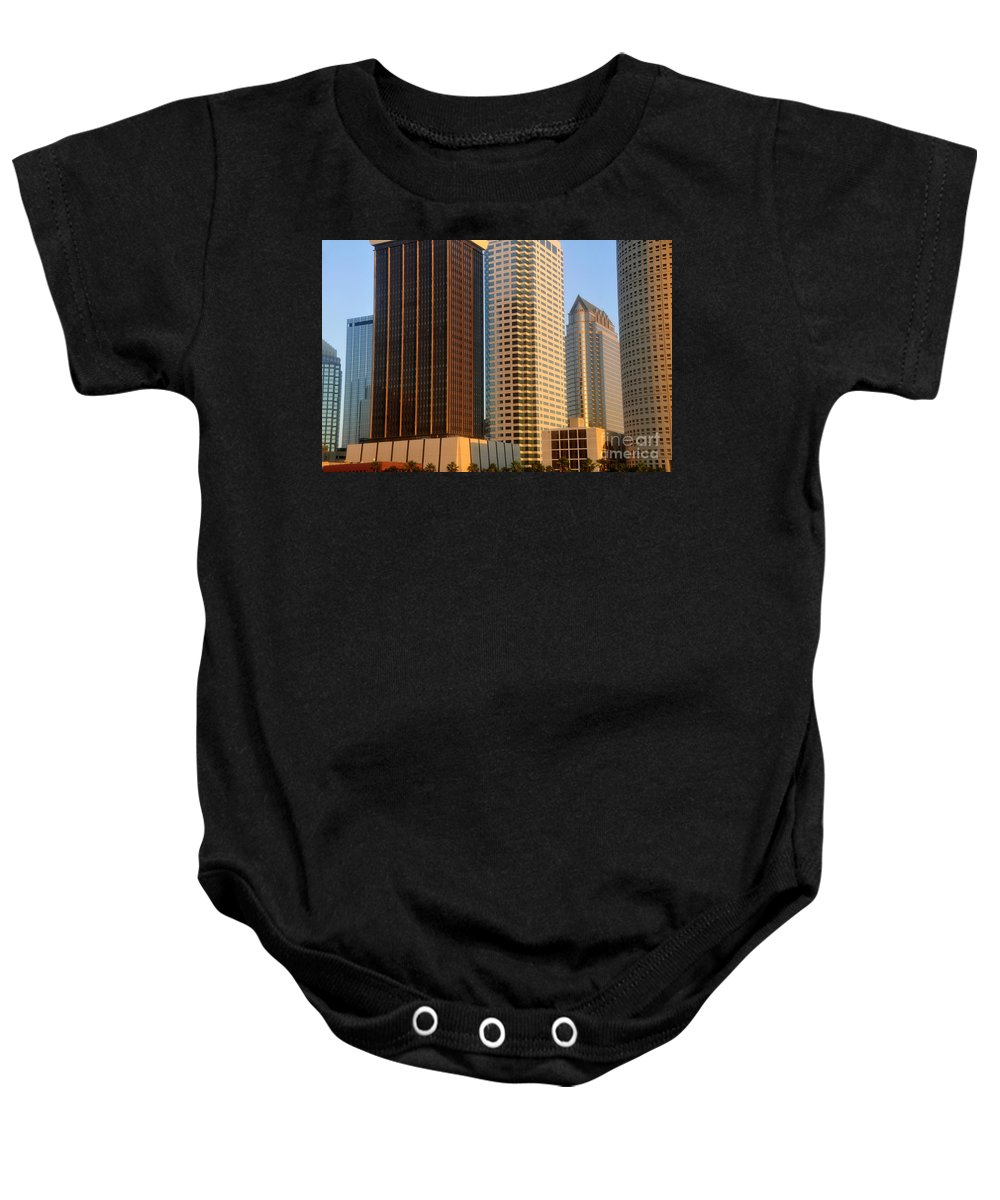 Commerce Baby Onesie featuring the photograph Walls Of Commerce by David Lee Thompson