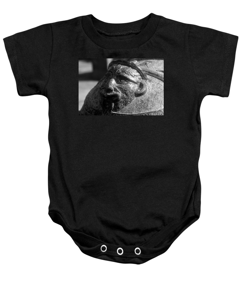 Cannon Baby Onesie featuring the photograph War Face by David Lee Thompson