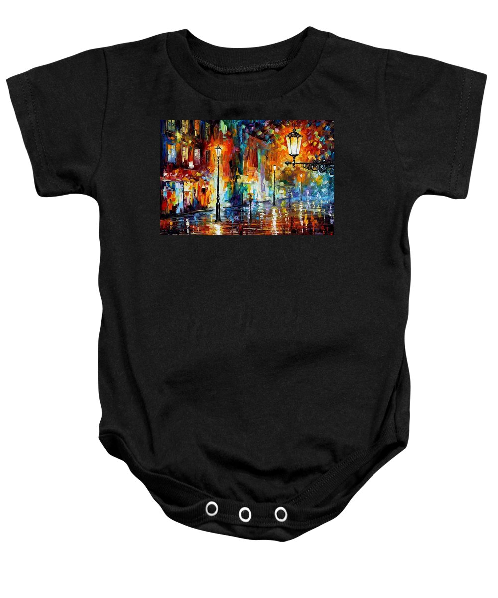 Afremov Baby Onesie featuring the painting Washed City by Leonid Afremov