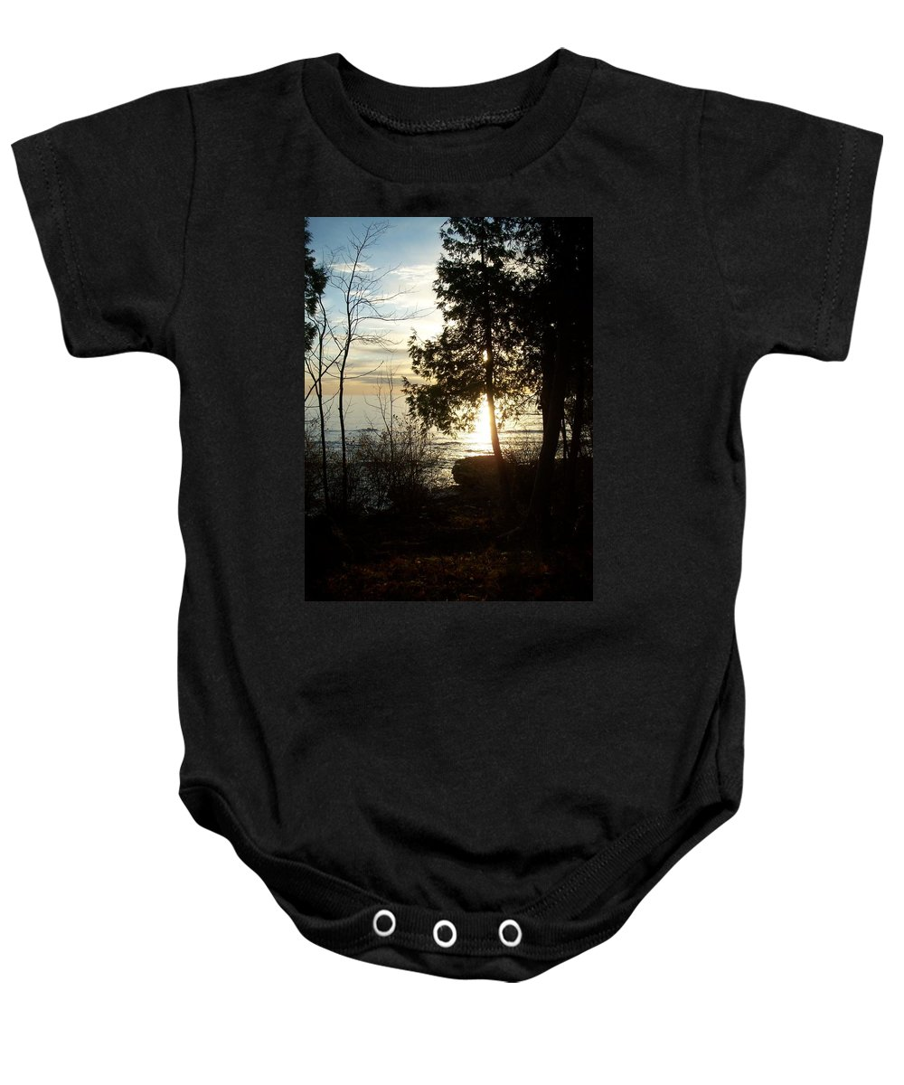 Washington Island Baby Onesie featuring the photograph Washington Island Morning 2 by Anita Burgermeister