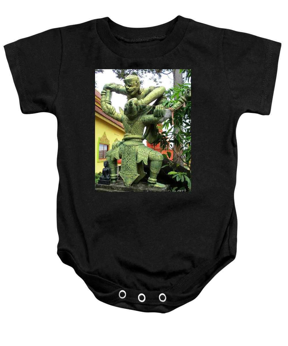 Cambodia Baby Onesie featuring the photograph Wat Krom 36 by Randall Weidner