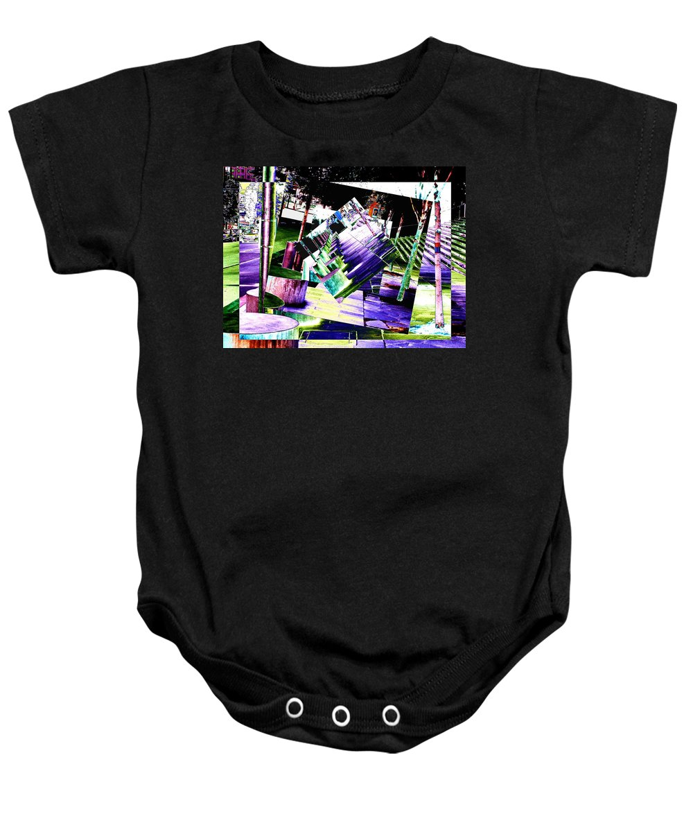 Seattle Baby Onesie featuring the photograph Watch Your Step by Tim Allen