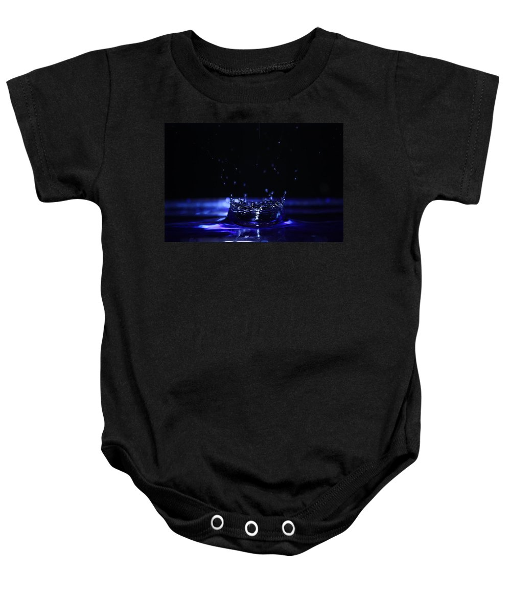 Photography Baby Onesie featuring the photograph Water Drop by Alexander Butler