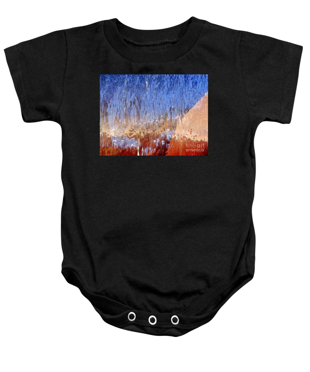 Digital Baby Onesie featuring the photograph Water Fountain Abstract #63 by Ed Weidman