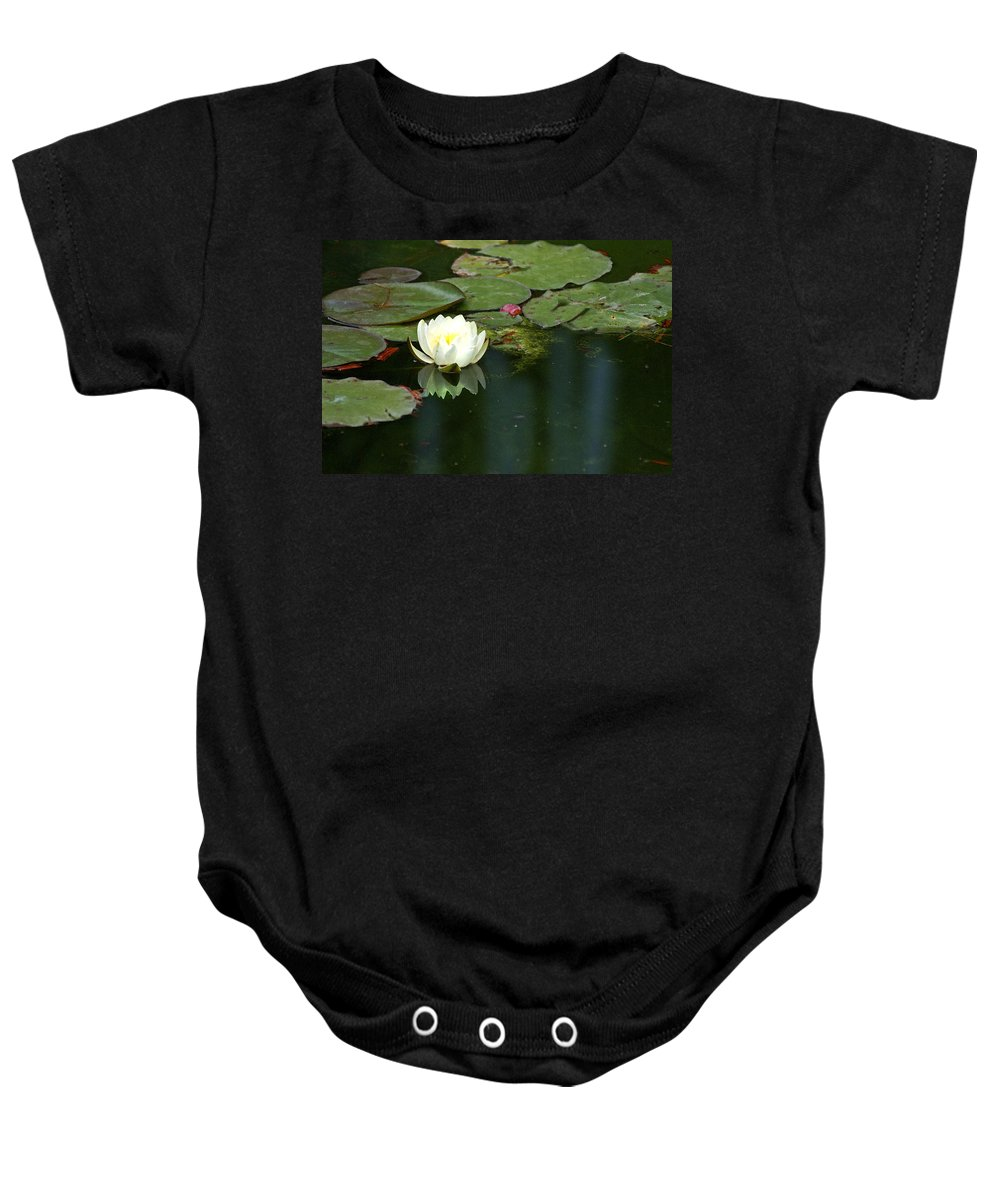 Lily Baby Onesie featuring the photograph Water Lily by Heather Coen