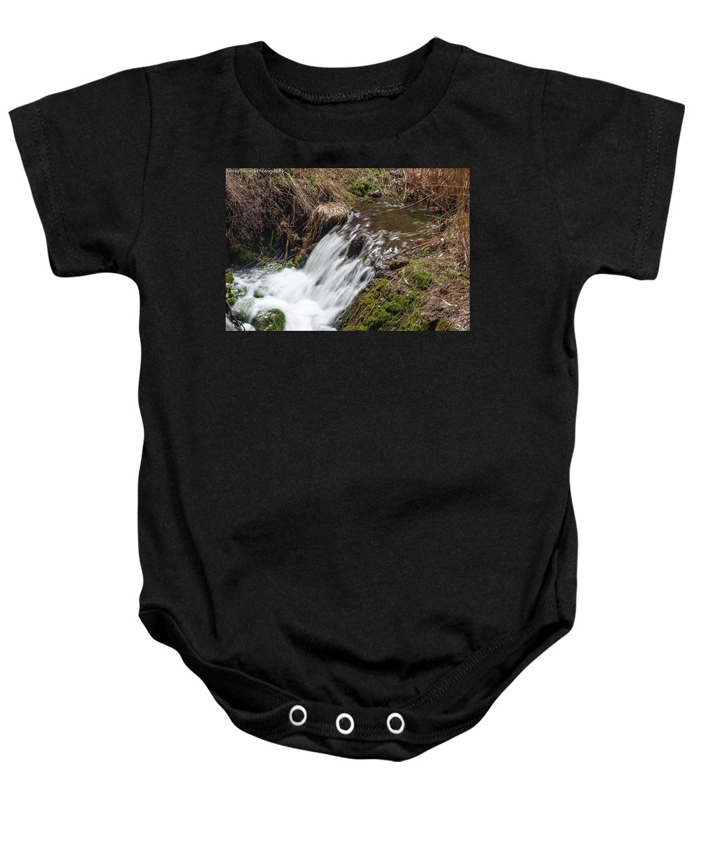 Waterfall Baby Onesie featuring the photograph Waterfall by Ashley Kent