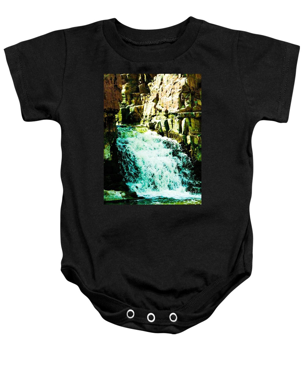 Waterfall Baby Onesie featuring the photograph Stairway by Lisa Knauff