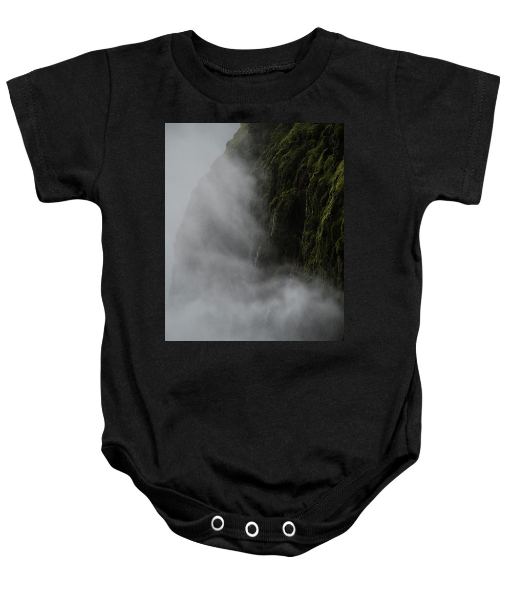 Waterfall Baby Onesie featuring the photograph Waterfall Mist by Mike Agentis