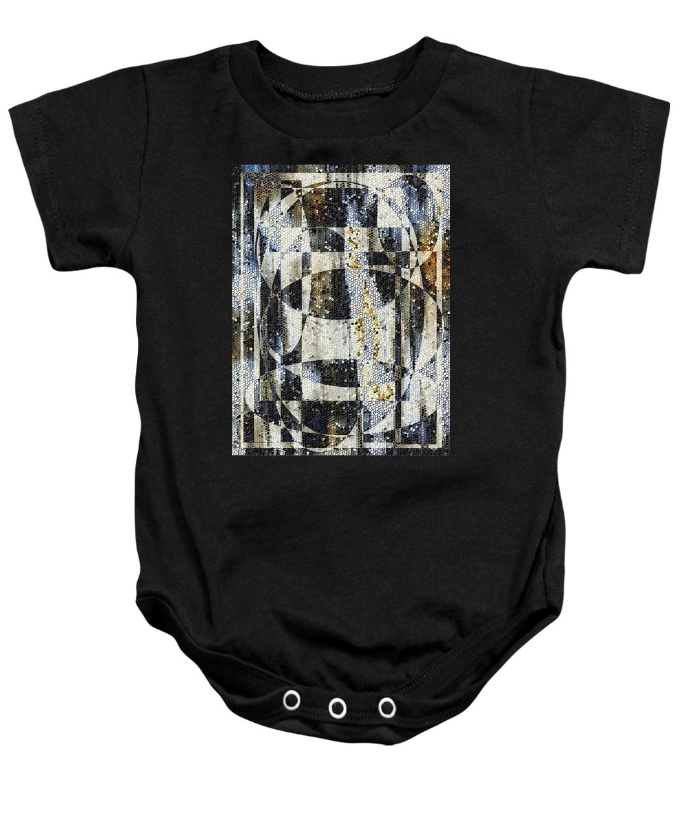 Mosaic Baby Onesie featuring the photograph Waterfalling by Tim Allen