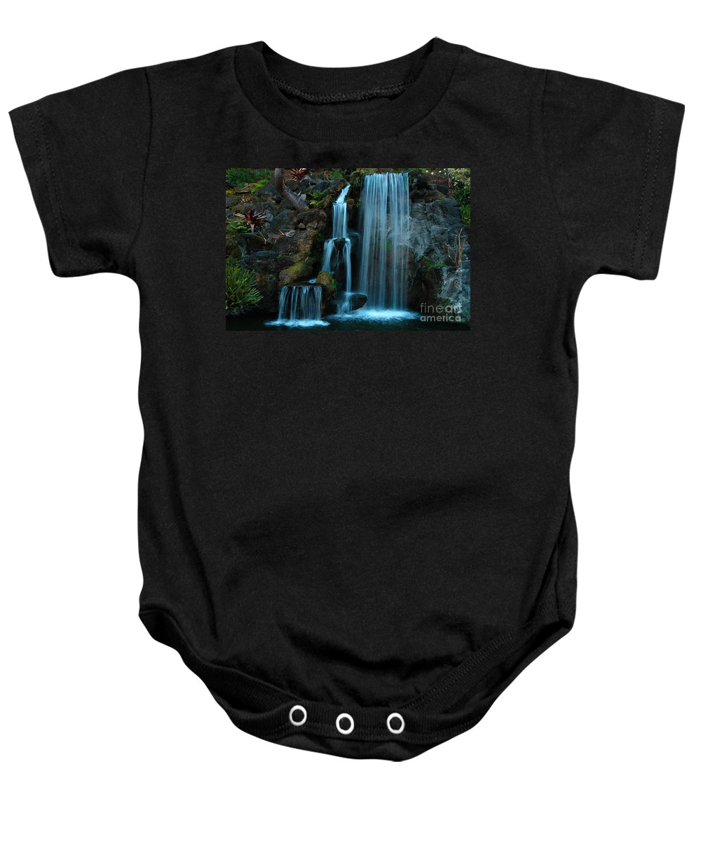 Clay Baby Onesie featuring the photograph Waterfalls by Clayton Bruster