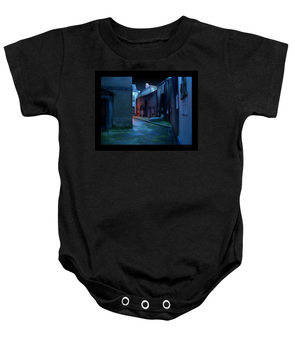 Waterford Baby Onesie featuring the photograph Waterford Alley by Tim Nyberg