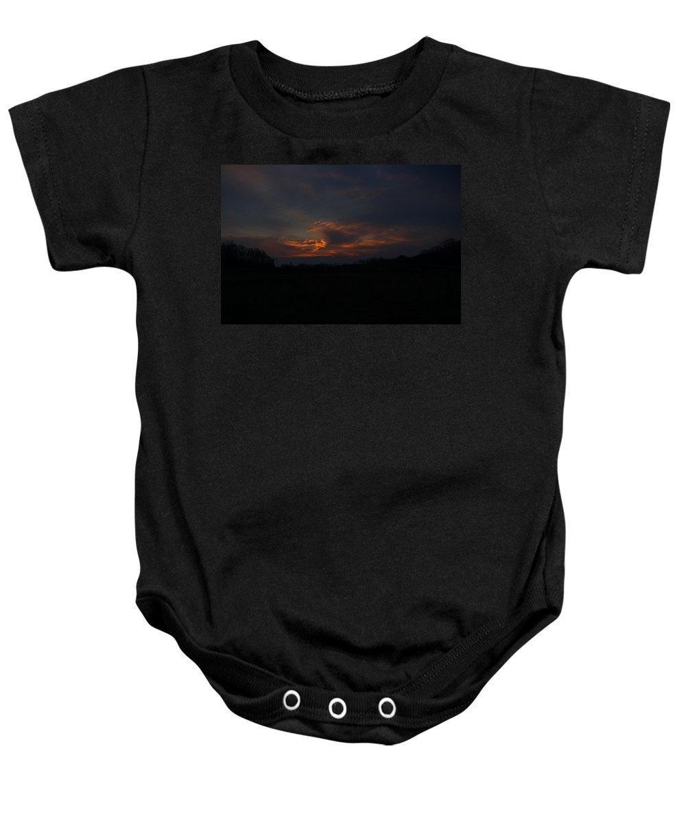 Sunset Baby Onesie featuring the photograph Waxhaw Sunset by Daniel Brinneman