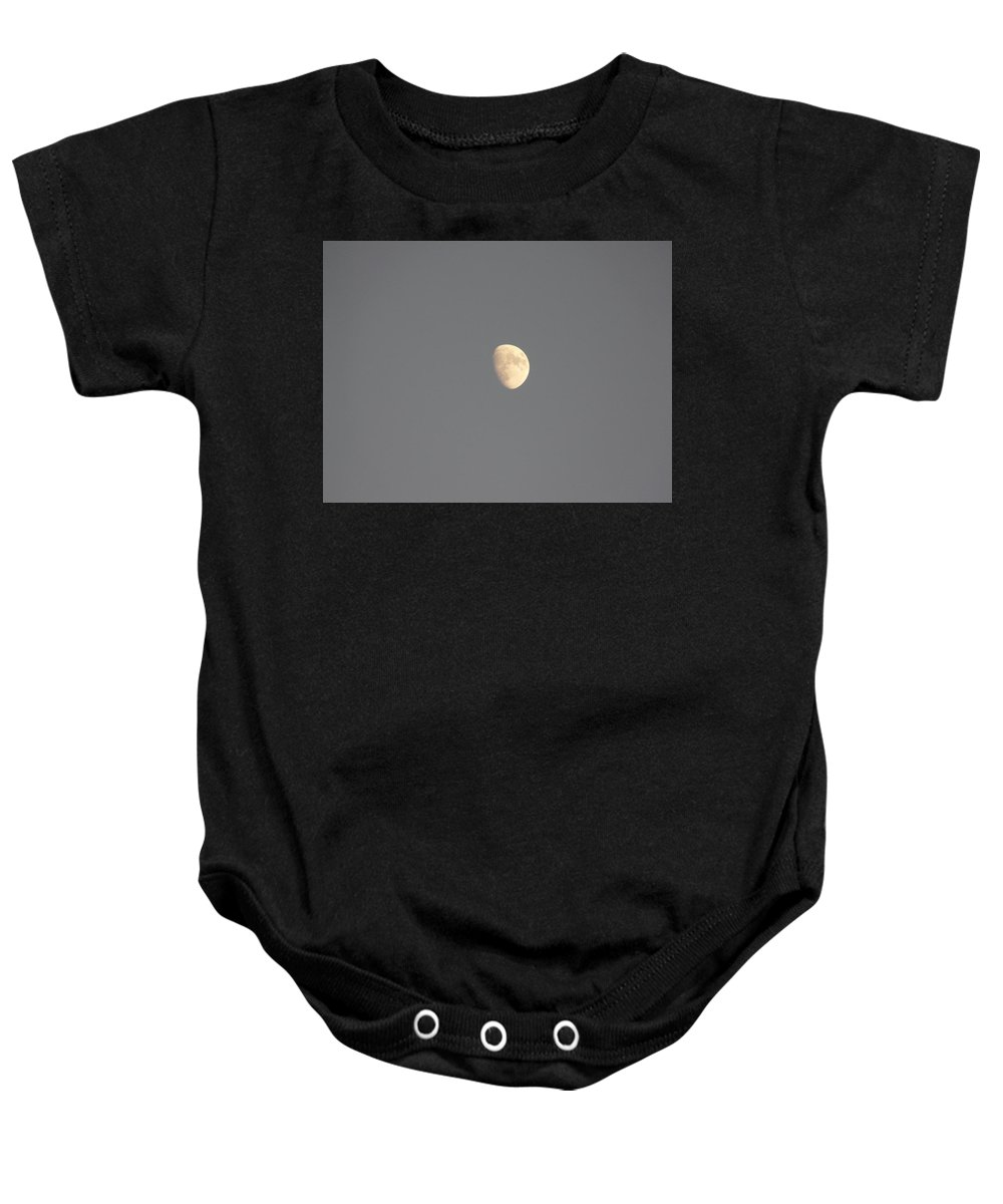 Waxing Baby Onesie featuring the photograph Waxing Moon by Valerie Ornstein