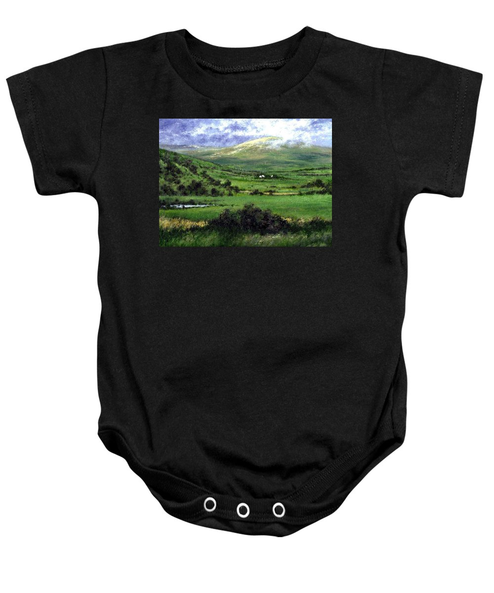Landcape Baby Onesie featuring the painting Way To Ardara Ireland by Jim Gola