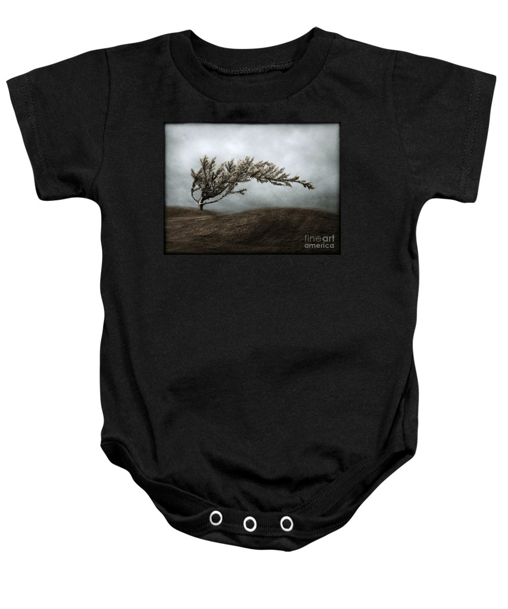 Bend Baby Onesie featuring the photograph We Break And We Bend And We Turn Ourselves Inside Out by Dana DiPasquale