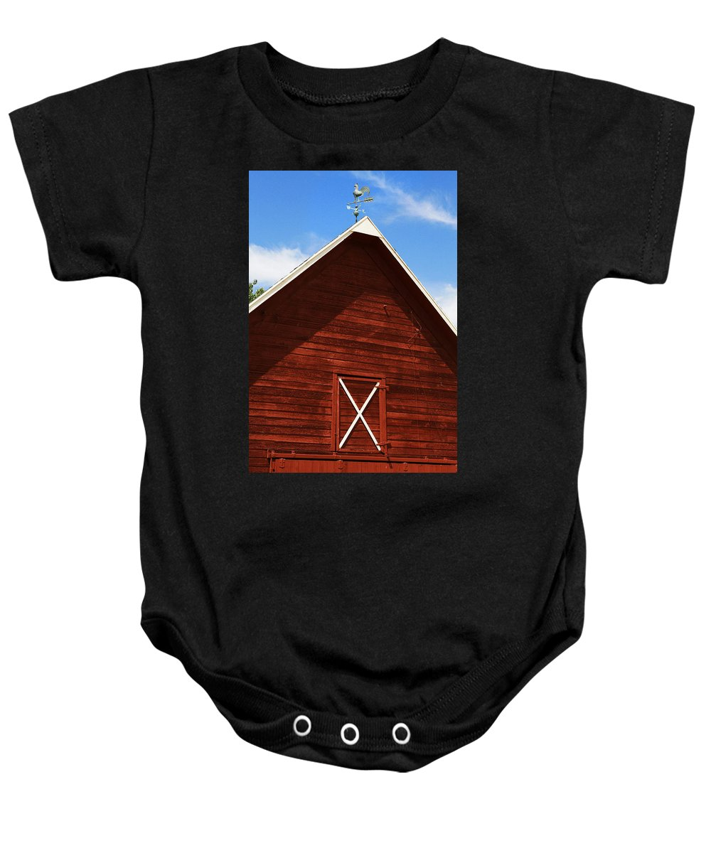 Weather Baby Onesie featuring the photograph Weather Vane by Marilyn Hunt