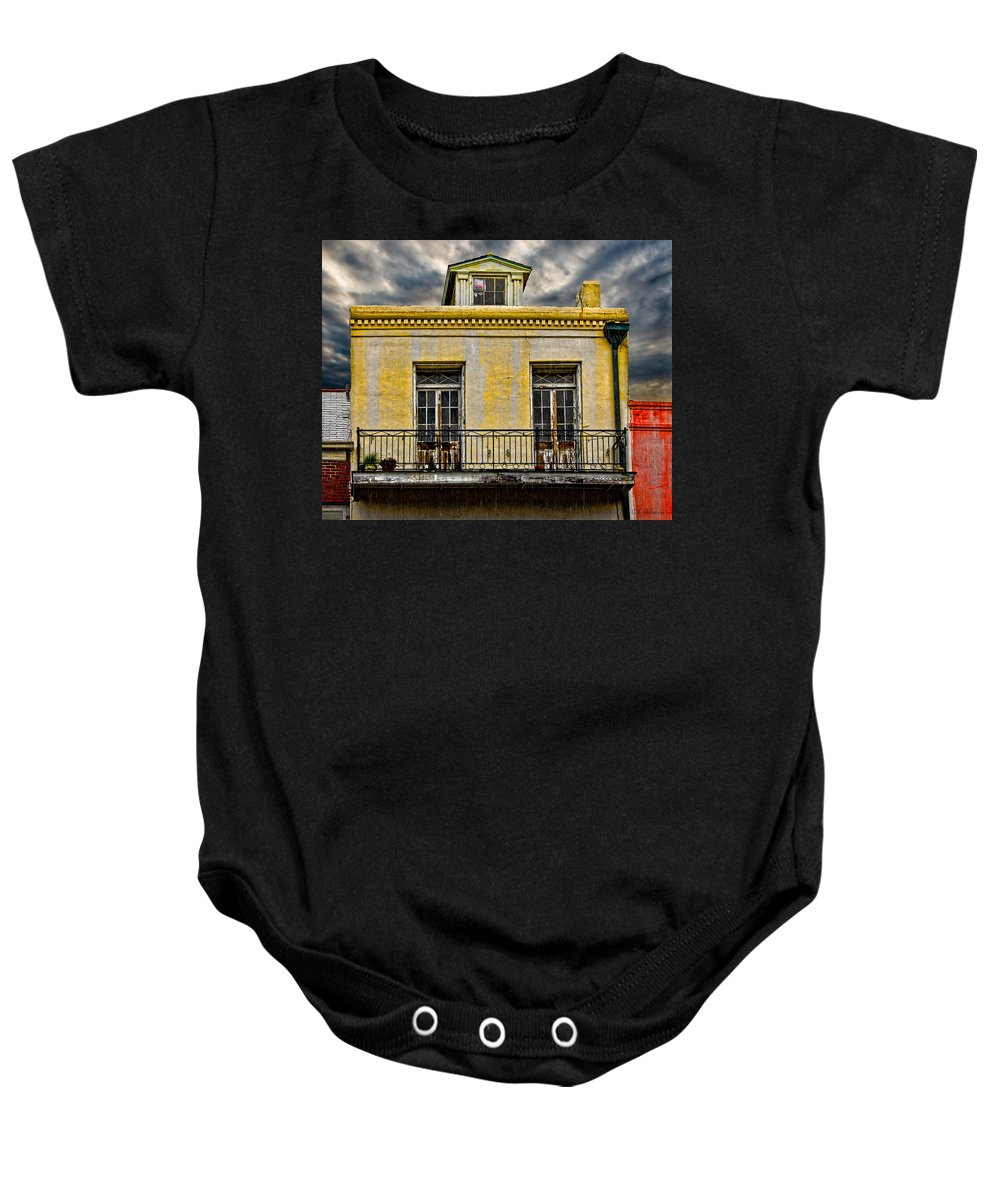 Structure Baby Onesie featuring the photograph Weathered by Christopher Holmes
