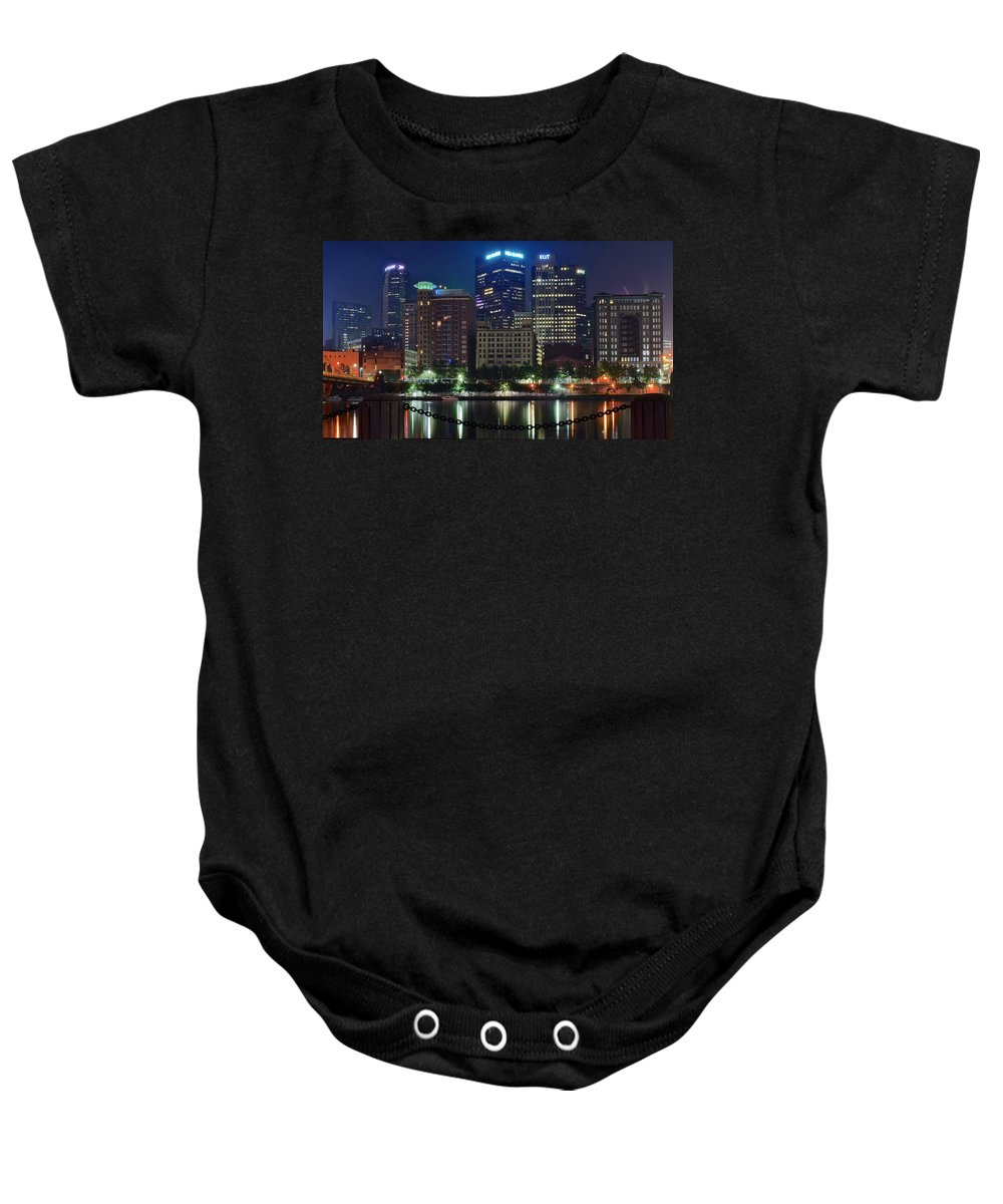 Pittsburgh Baby Onesie featuring the photograph Welcome To Pittsburgh by Frozen in Time Fine Art Photography