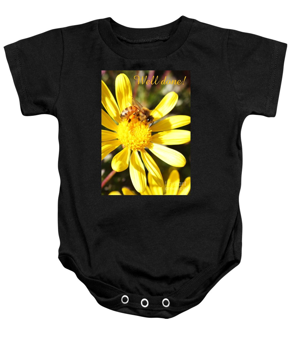 Card Baby Onesie featuring the photograph Well Done Card by Carol Groenen