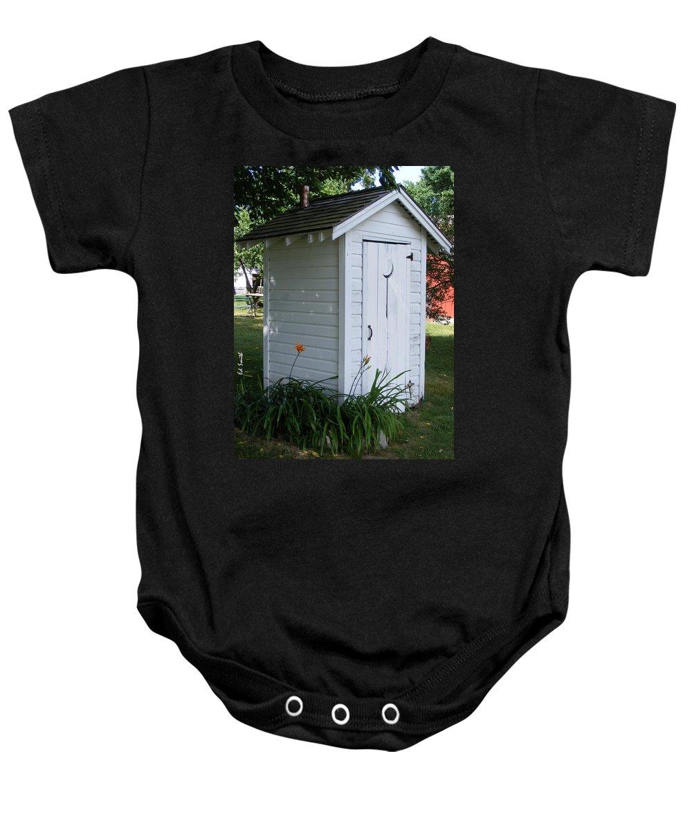 Well Manicured Water Closet Baby Onesie featuring the photograph Well Manicured Water Closet by Ed Smith