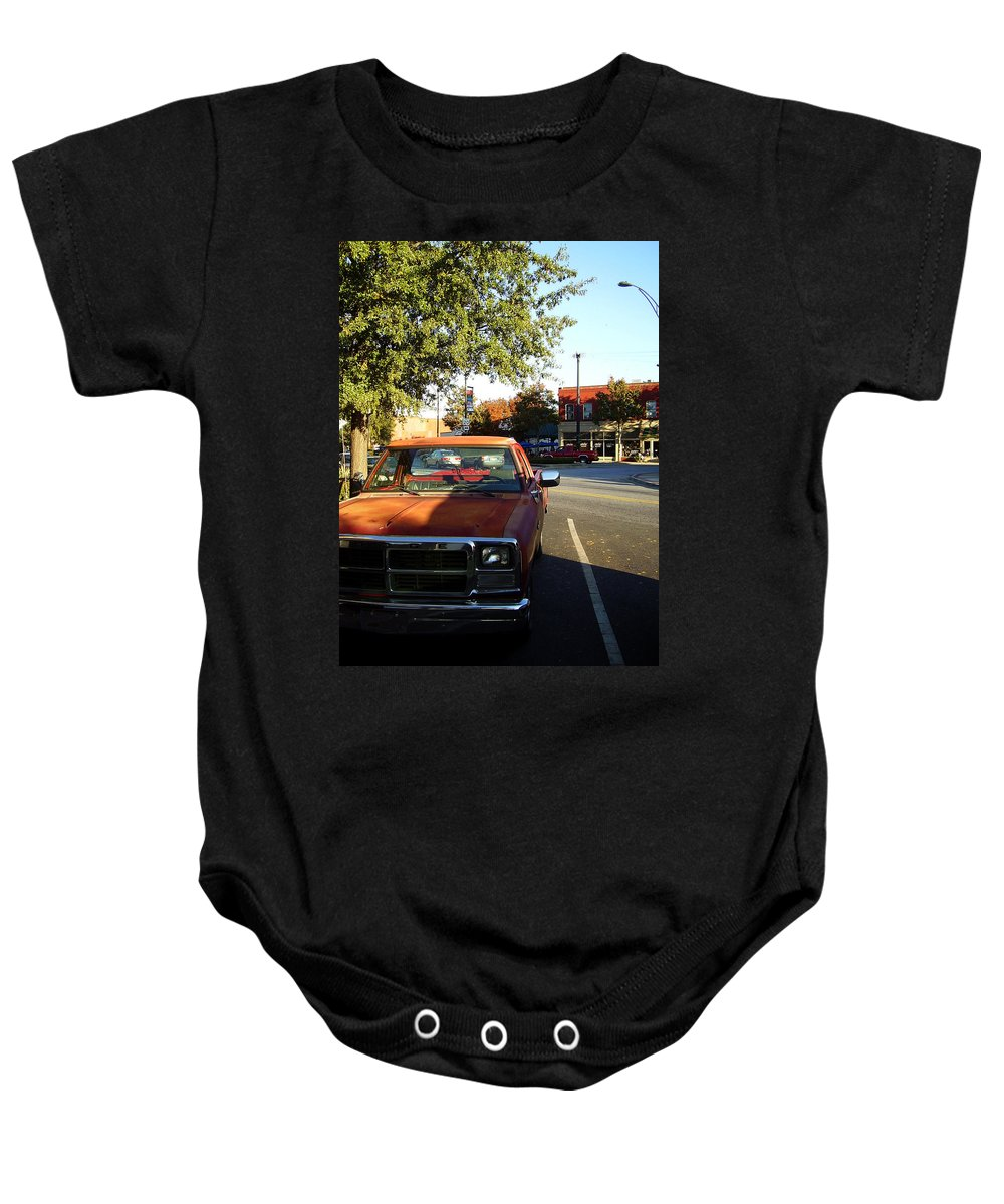 West End Baby Onesie featuring the photograph West End by Flavia Westerwelle