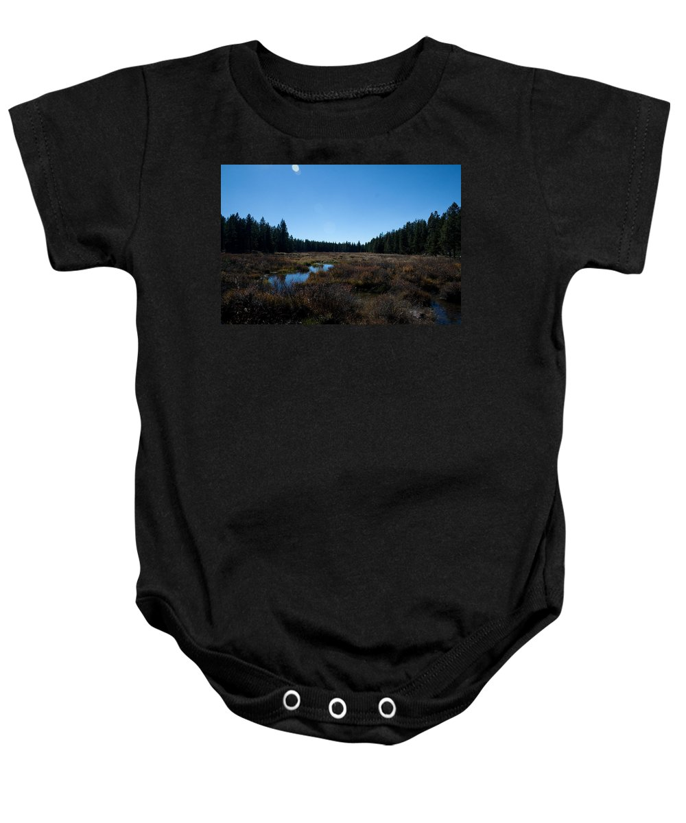 Nature Baby Onesie featuring the photograph Wetlands In The Woods by Angus Hooper Iii