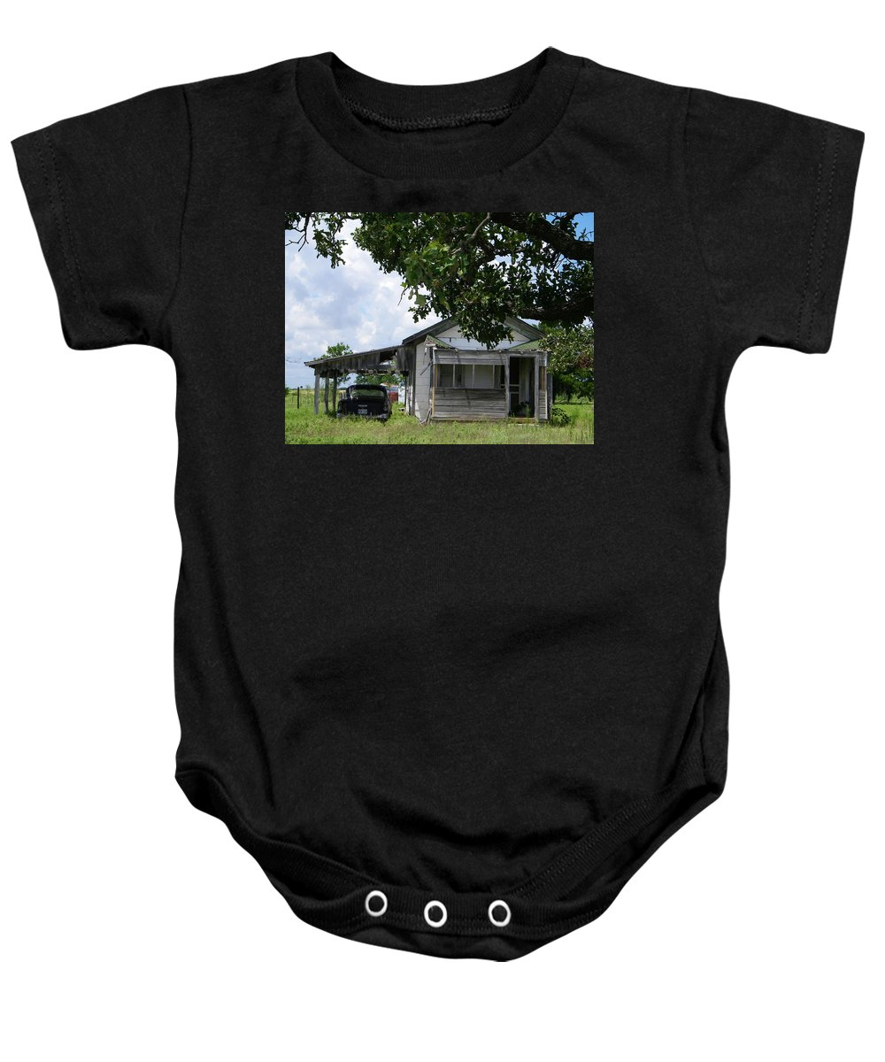 Chevy Baby Onesie featuring the photograph We've Seen Better Days by Gale Cochran-Smith