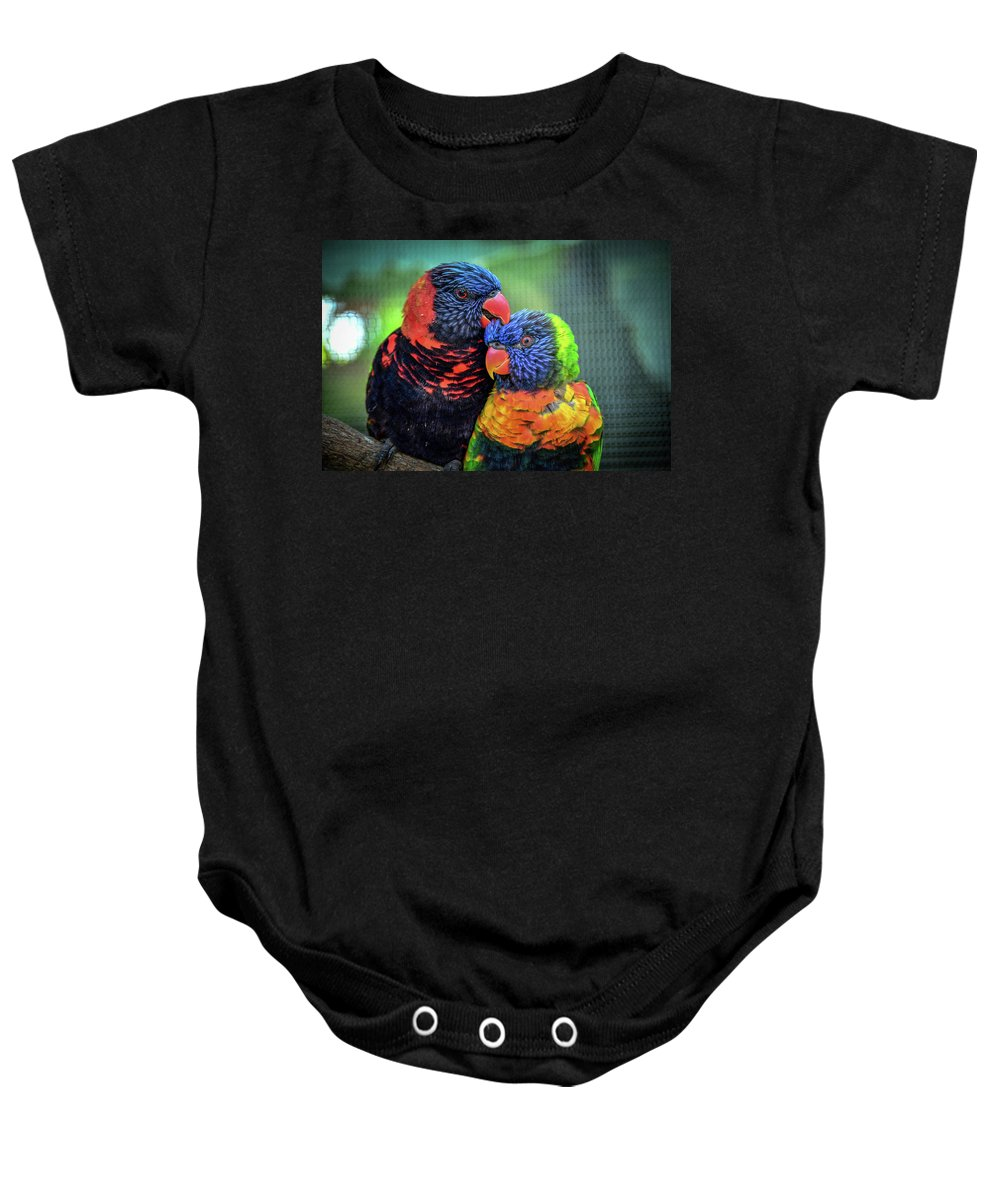 Birds Baby Onesie featuring the photograph What Are Friends For? by Robert Coffey