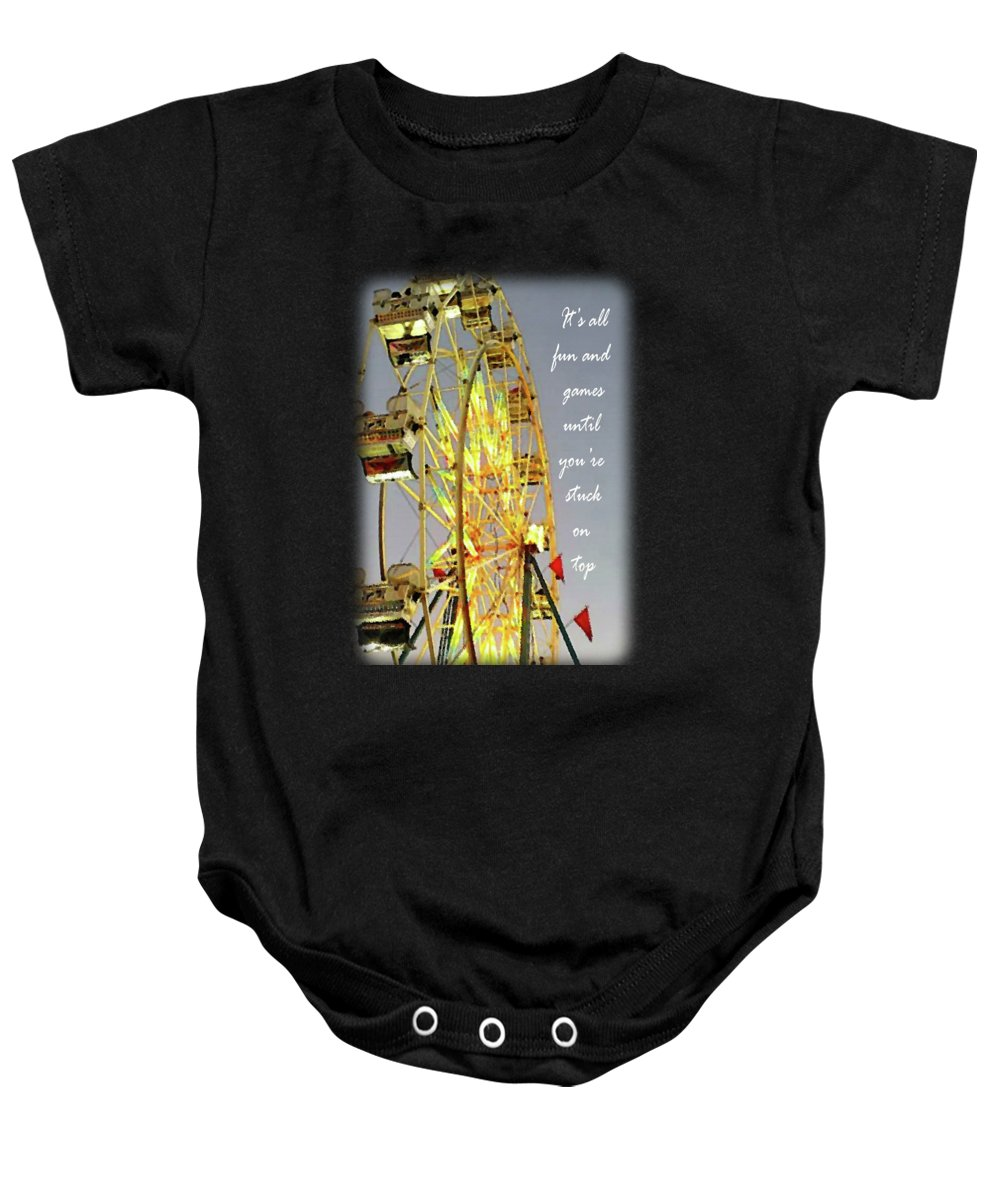 Wheel Of Fortune Baby Onesie featuring the digital art Wheel Of Fortune With Phrase by Anita Faye