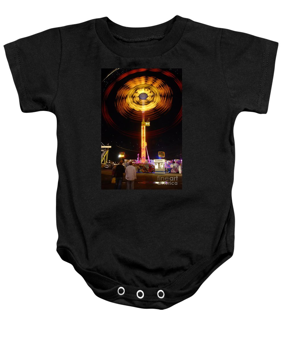 Fair Baby Onesie featuring the photograph Wheels Of Wonder by David Lee Thompson