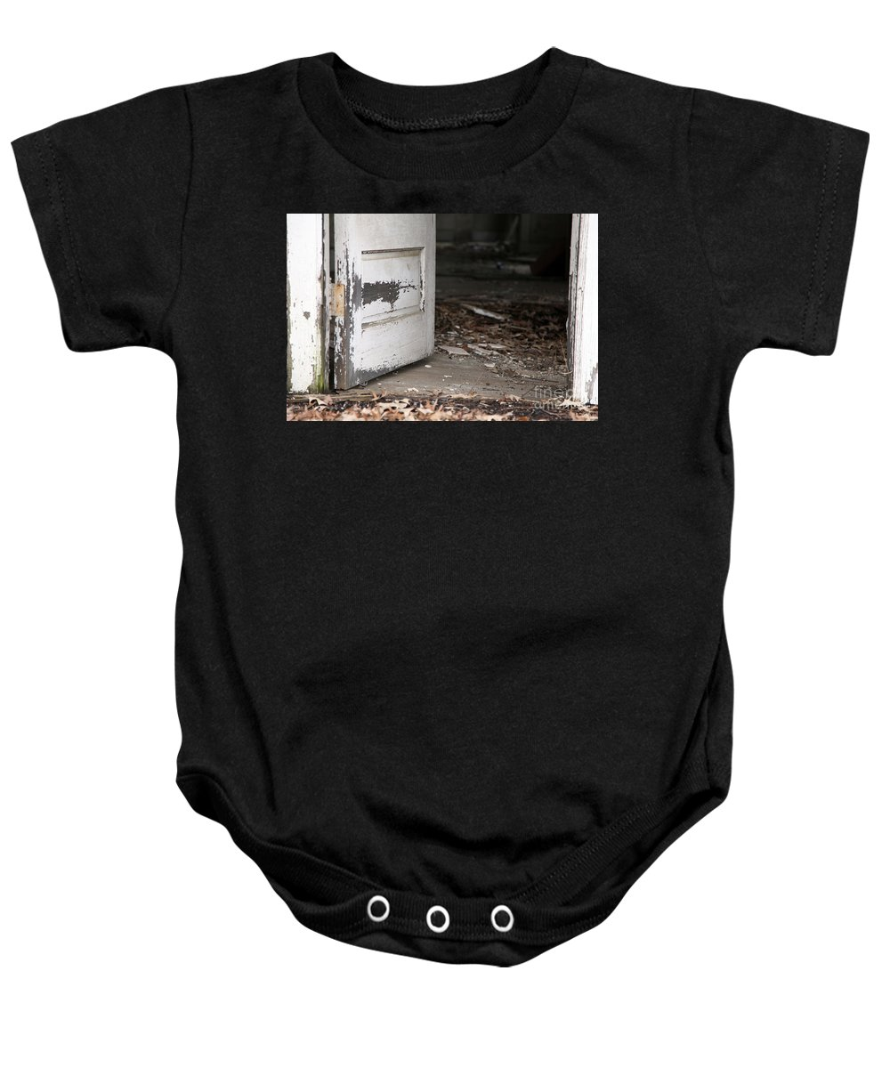Old Baby Onesie featuring the photograph When Did She Go by Amanda Barcon