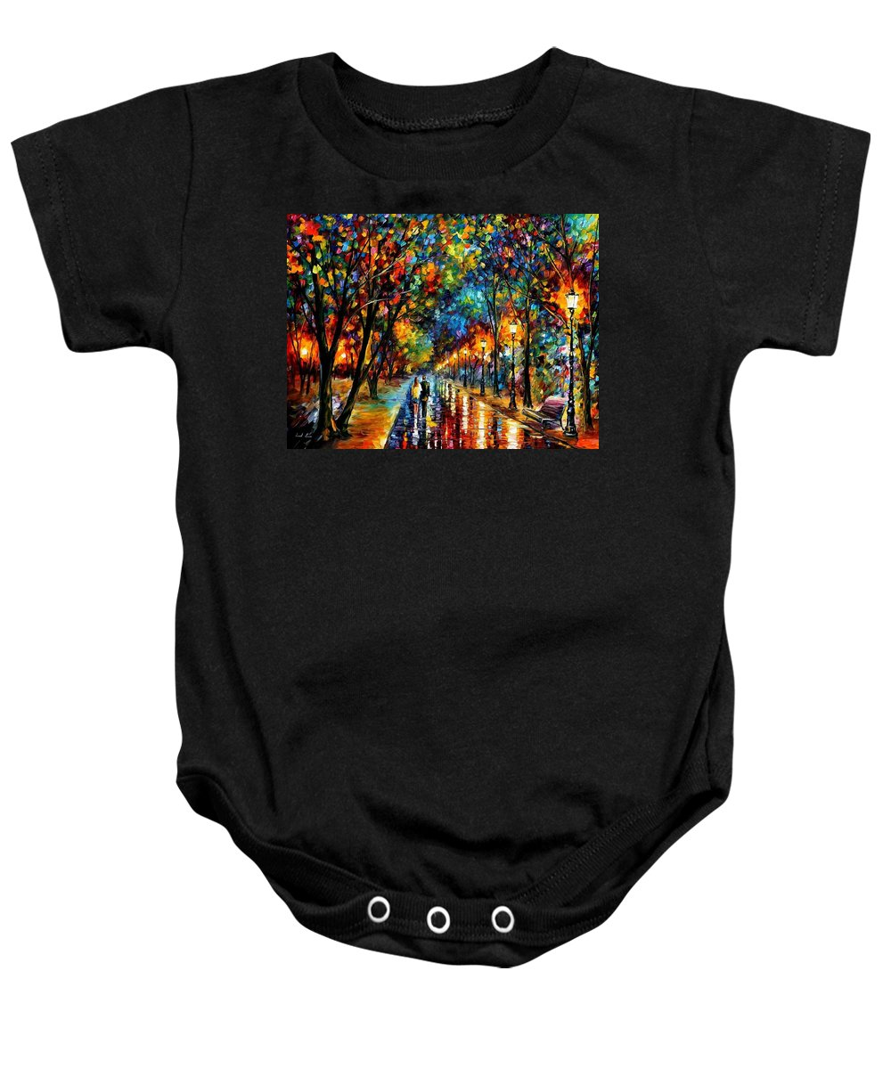 Landscape Baby Onesie featuring the painting When Dreams Come True by Leonid Afremov