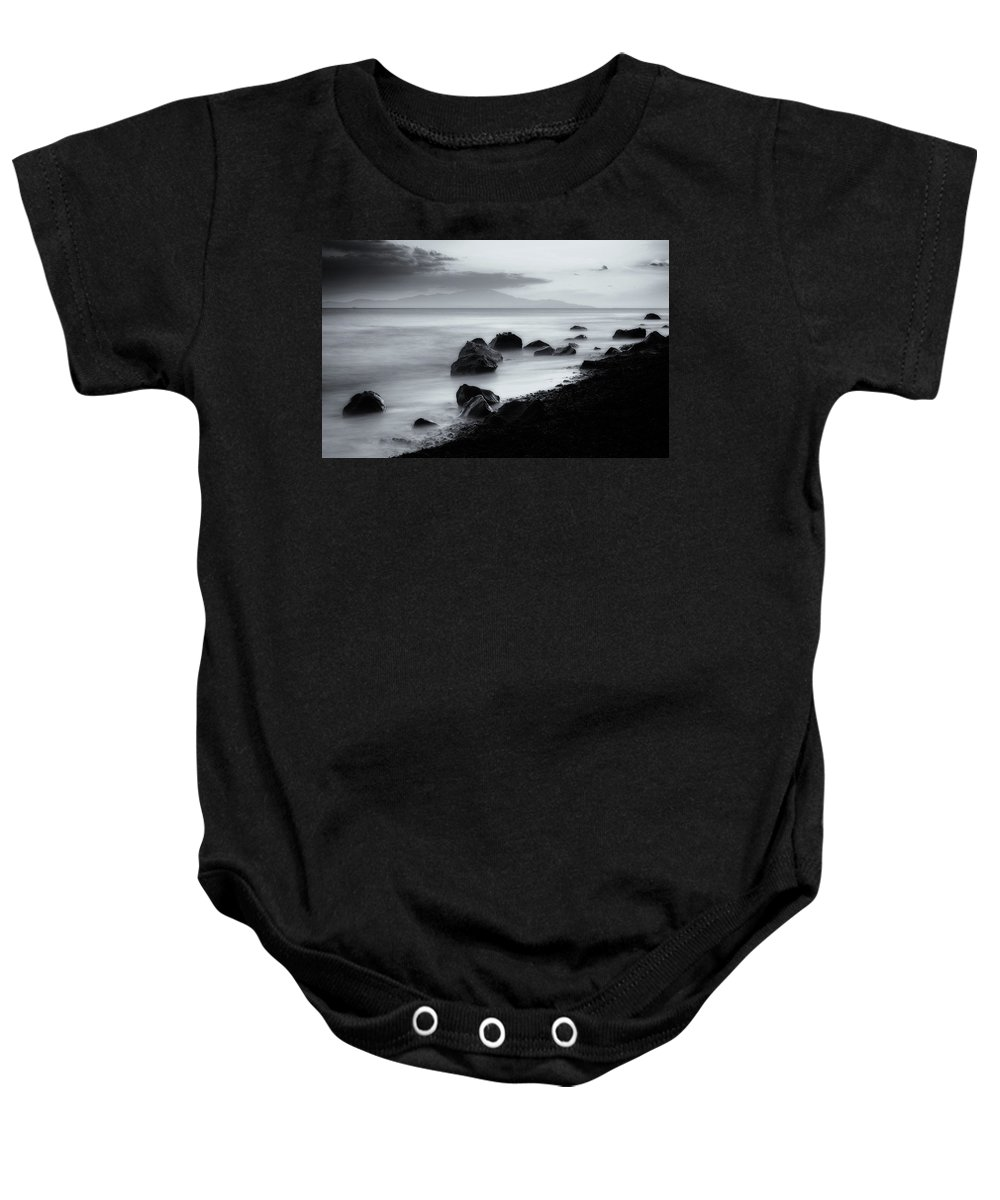 Landscape Baby Onesie featuring the photograph When The Sun Goes Down by Dogukan Benli
