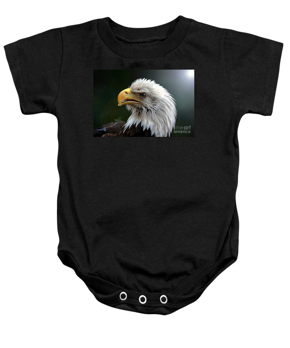 Bird Baby Onesie featuring the photograph Where Eagles Dare 3 by Randy Matthews