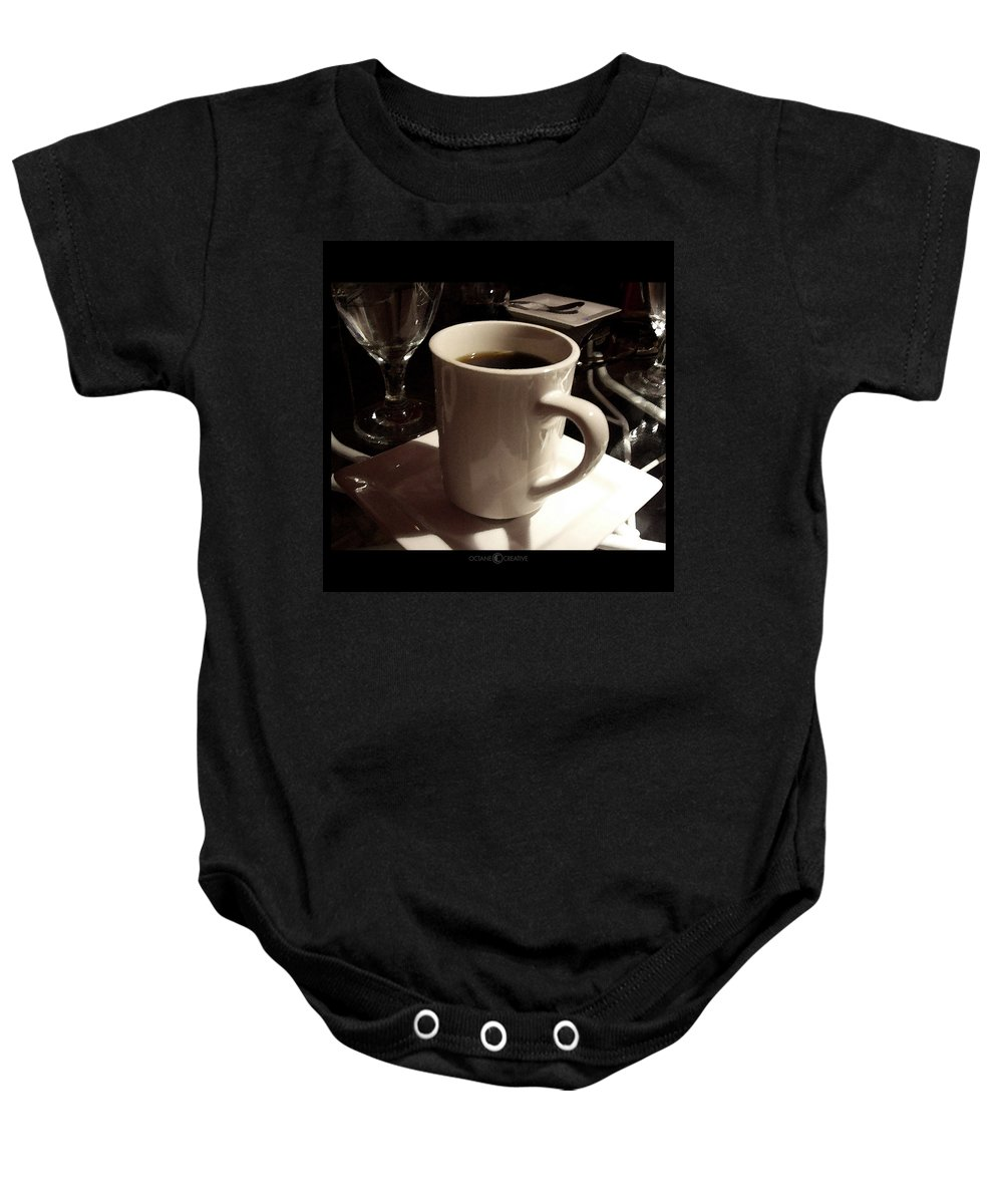 White Baby Onesie featuring the photograph White Cup by Tim Nyberg