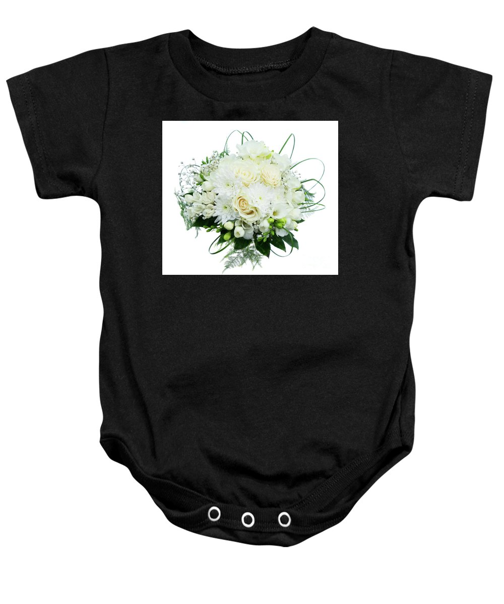 Roses Baby Onesie featuring the photograph Wedding Bouquet by Anastasy Yarmolovich