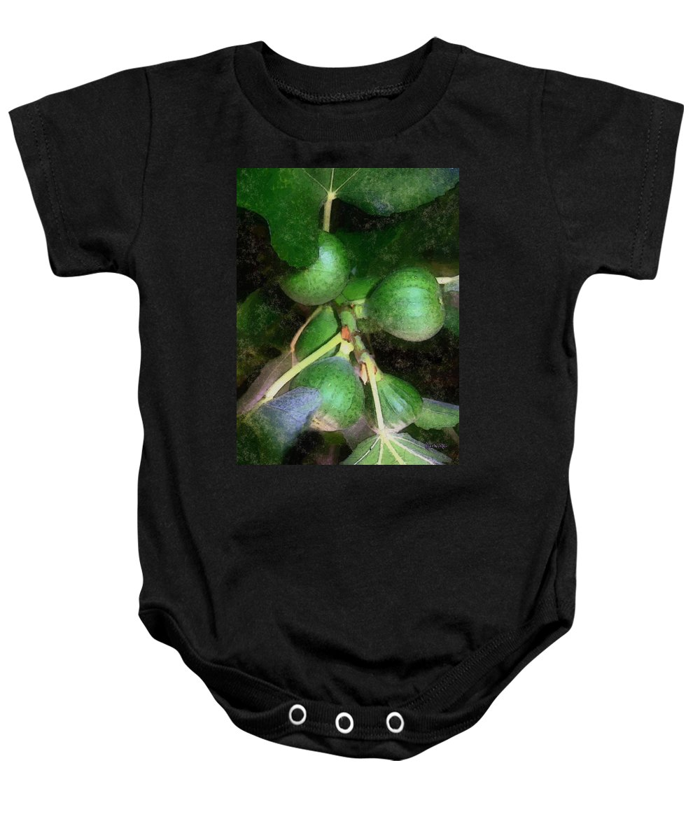 Fig Tree Baby Onesie featuring the digital art Who Gives A Fig by RC DeWinter