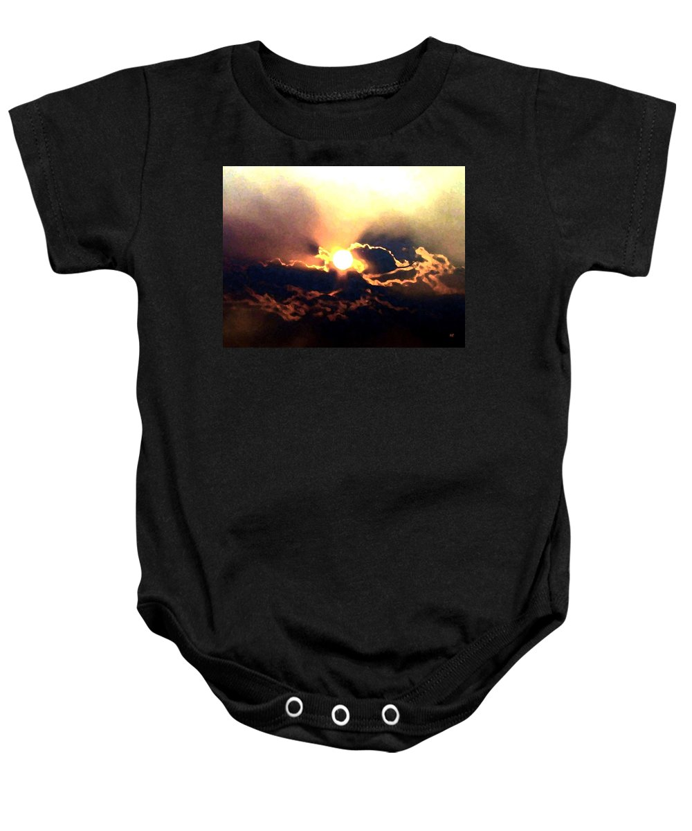 Abstract Baby Onesie featuring the digital art Who Has Kissed The Sun by Will Borden