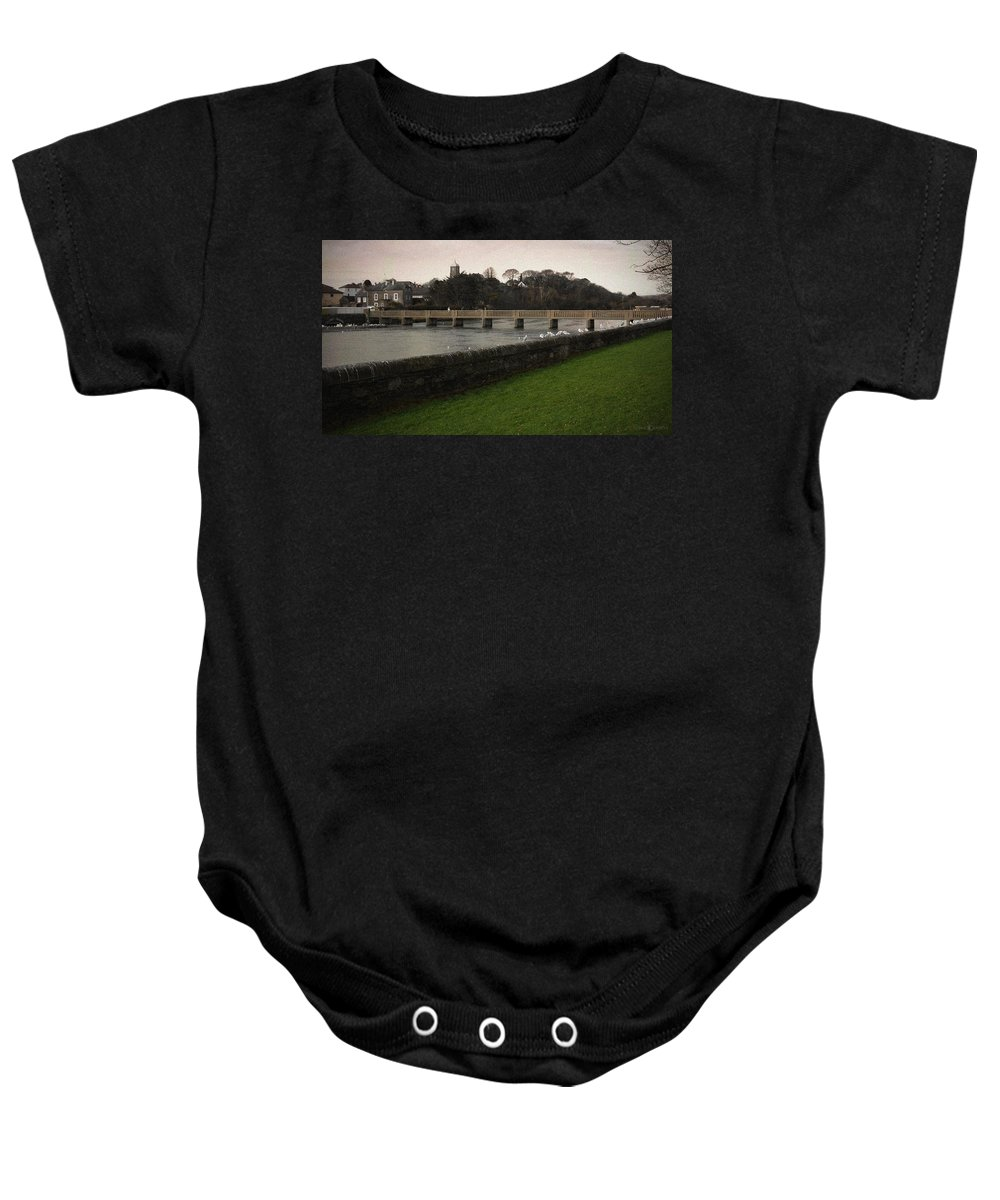 Footbridge Baby Onesie featuring the photograph Wicklow Footbridge by Tim Nyberg