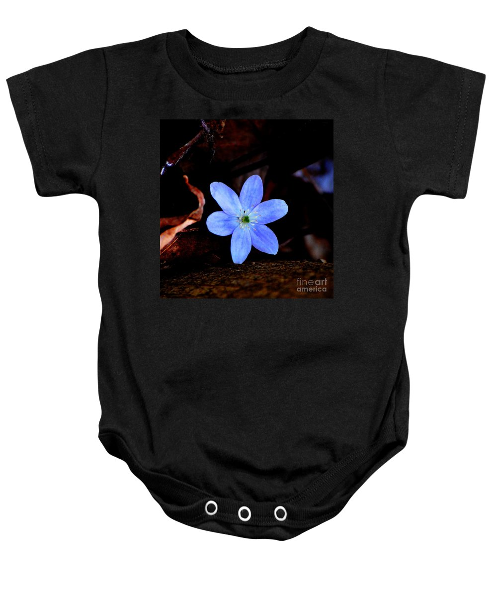 Digital Photo Baby Onesie featuring the photograph Wild Blue by David Lane