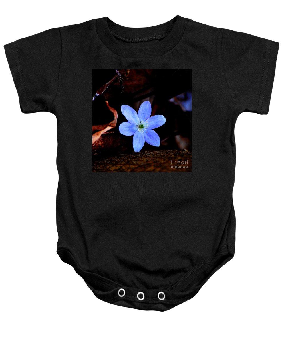 Digital Photo Baby Onesie featuring the photograph Wild Blue by David Lane