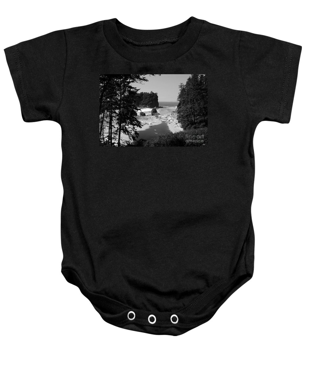 Cove Baby Onesie featuring the photograph Wild Cove by David Lee Thompson