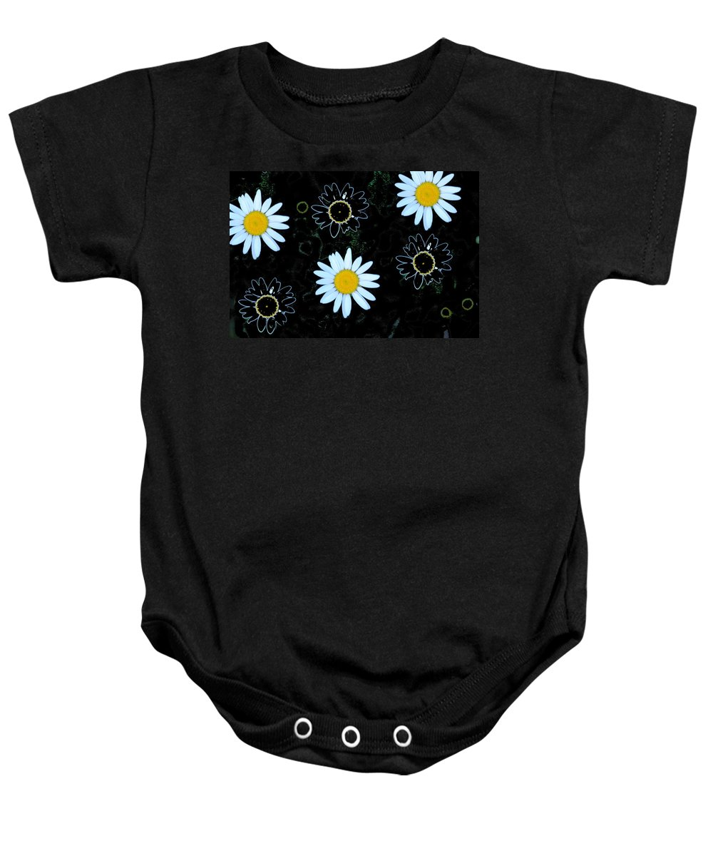 Daisy Baby Onesie featuring the photograph Wild Daisy by Eric Liller