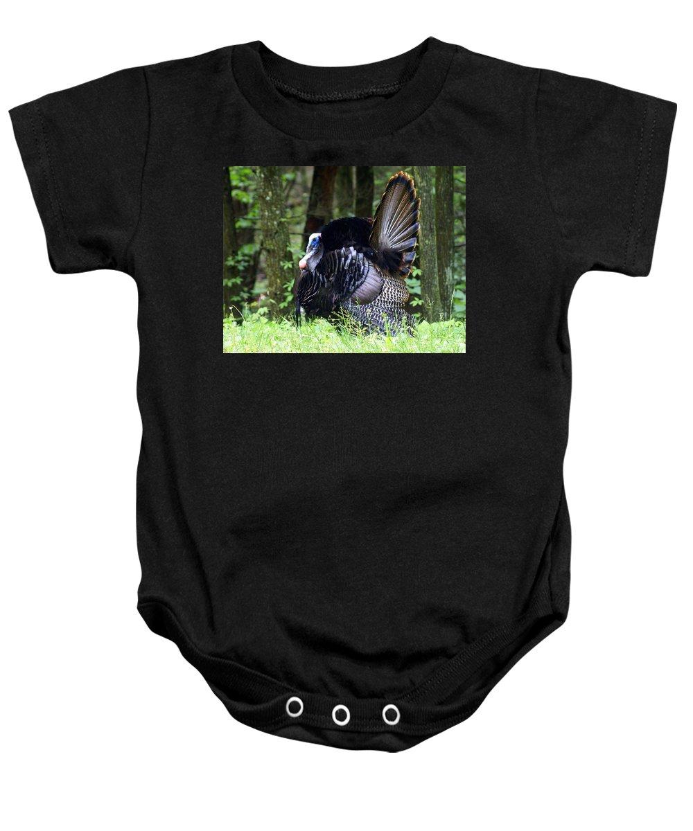 Wild Turkey Baby Onesie featuring the photograph Wild Turkey 1 by Marty Koch