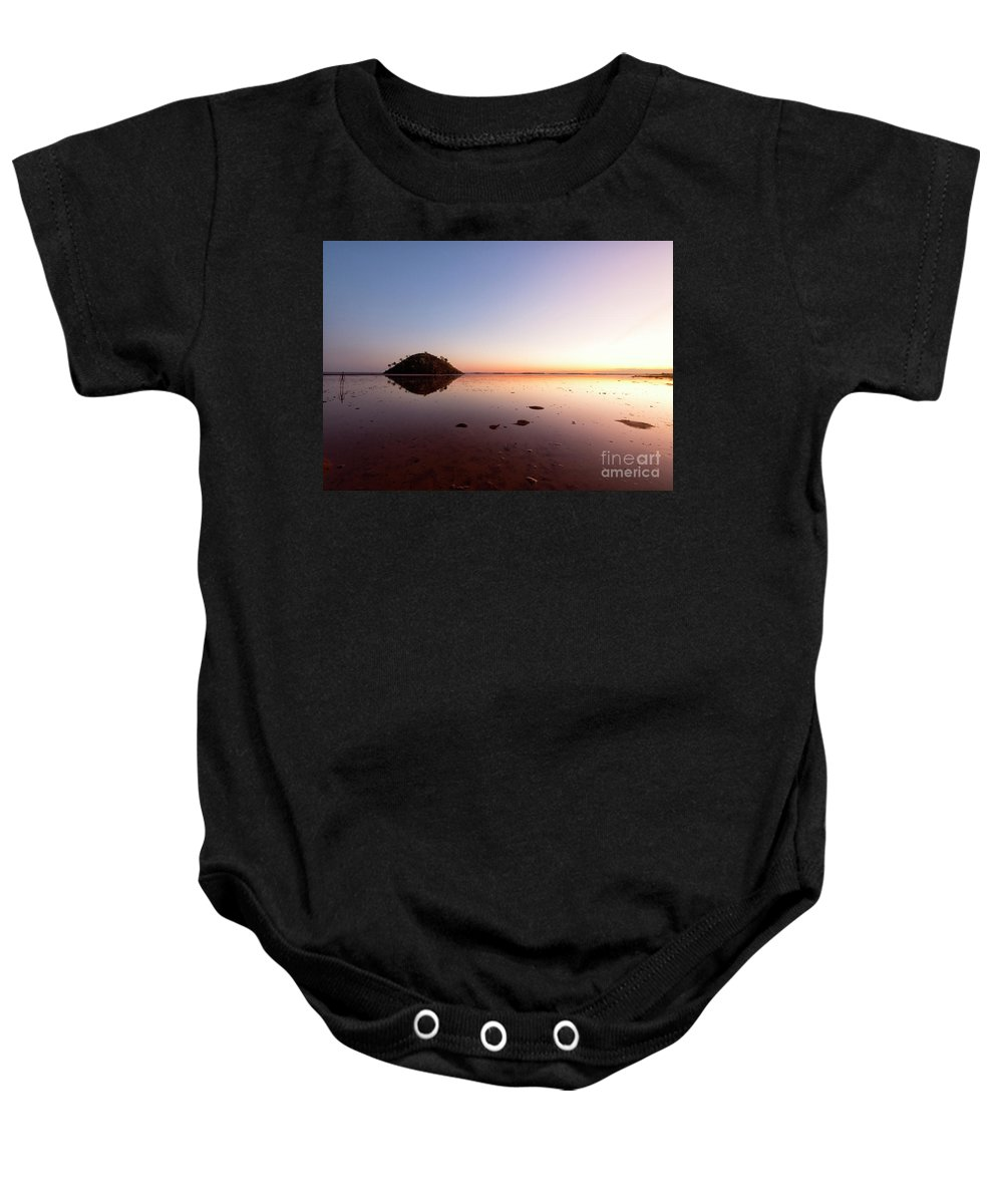 Sunset Baby Onesie featuring the photograph Wilderness Sunrise by Genevieve Vallee