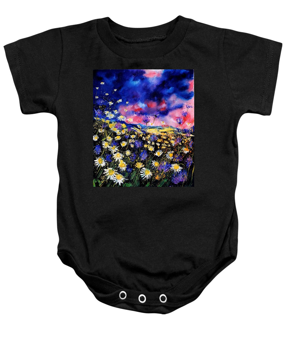 Flowers Baby Onesie featuring the painting Wildflowers 67 by Pol Ledent