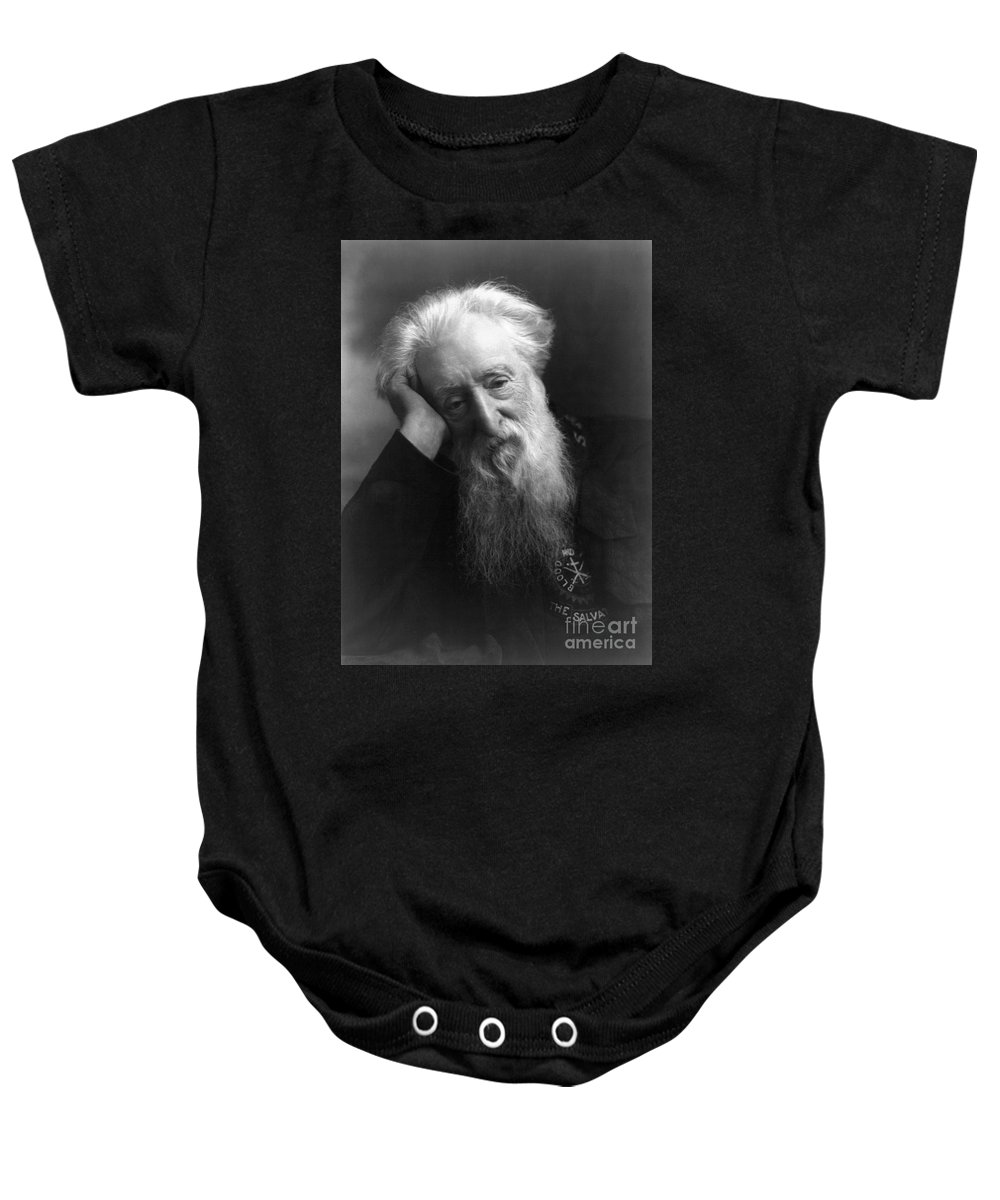 1907 Baby Onesie featuring the photograph William Booth (1829-1912) by Granger