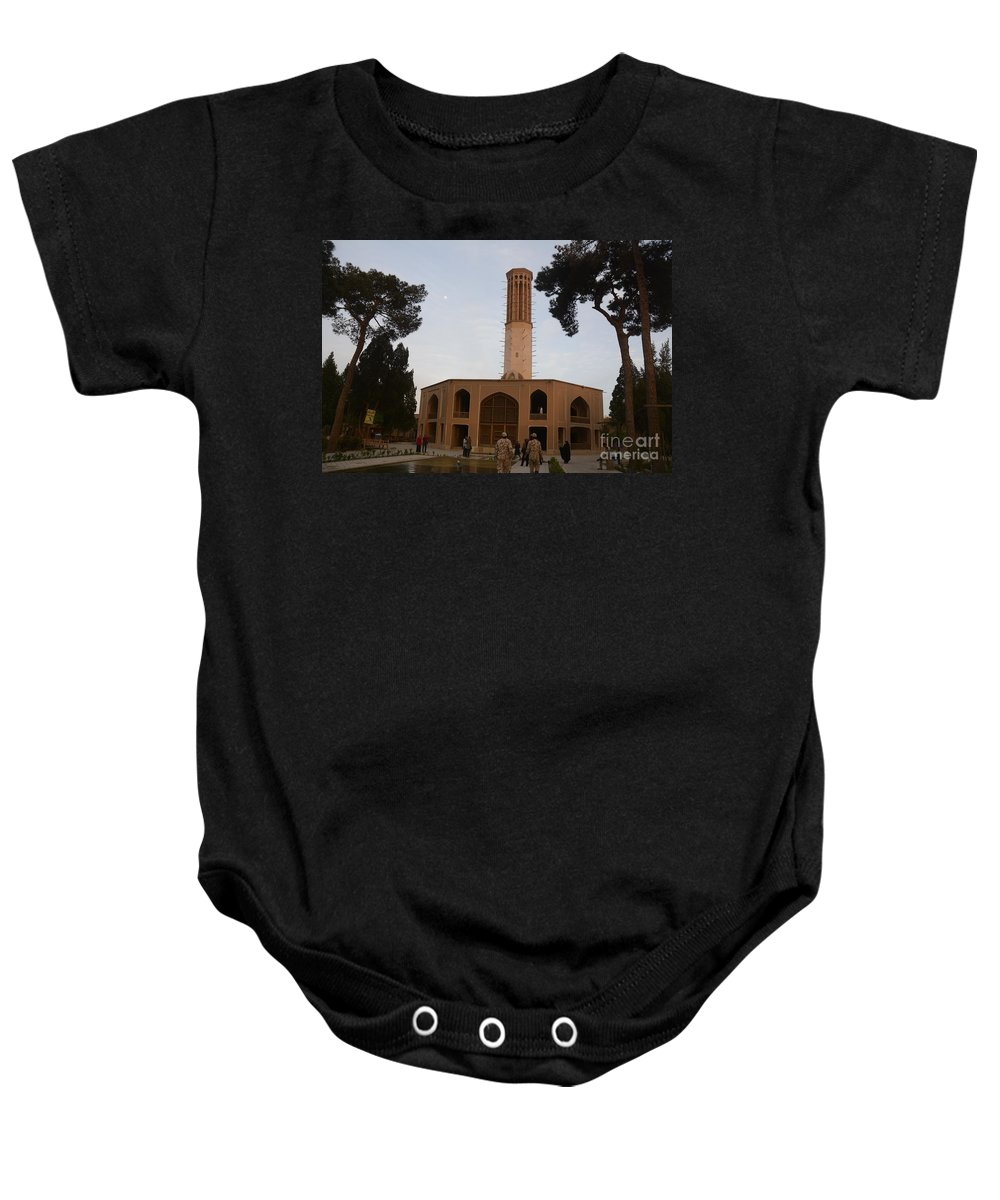 Wind Towers Baby Onesie featuring the photograph Wind Towers, Iran by Catherine Ursillo