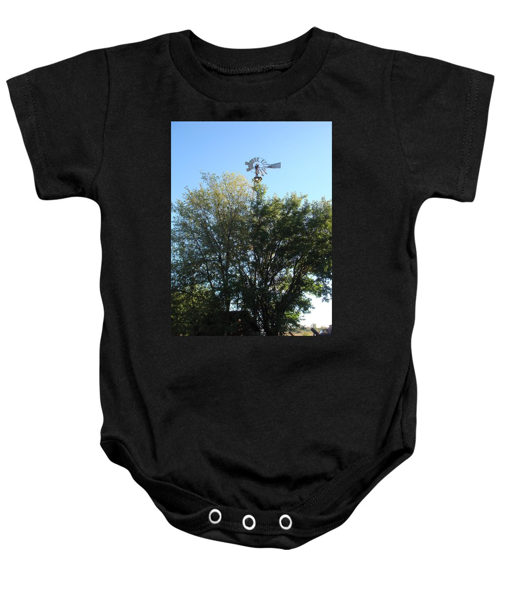 Windmill Baby Onesie featuring the photograph Windmill II by Bonfire Photography